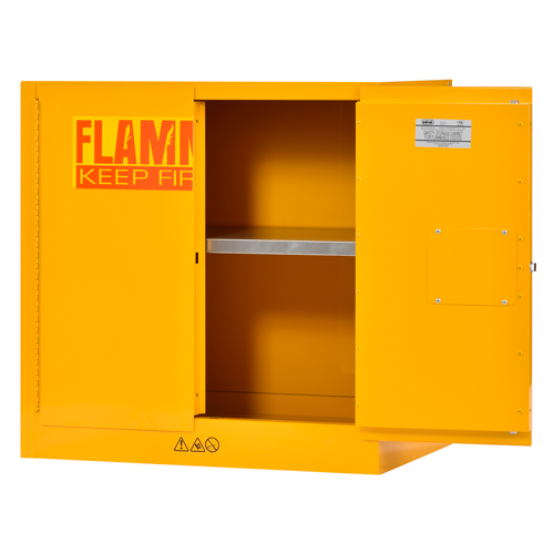 Compact Flammable Safety Cabinet   22 Gallon Capacity