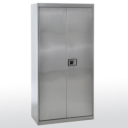 stainless steel cabinet with paddle lock